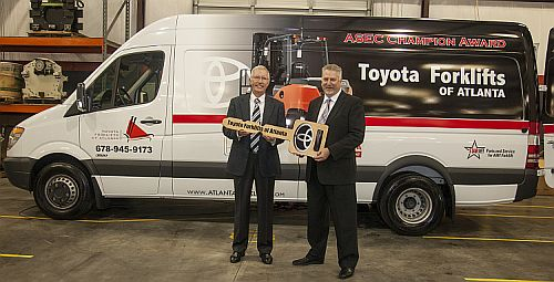 Toyota Jonesboro Ar >> TOYOTA FORKLIFTS OF ATLANTA RECEIVES AWARD AND NEW SERVICE ...