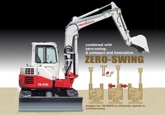 Zero Swing Excavators