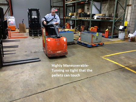 highly maneuverable pallet jacks